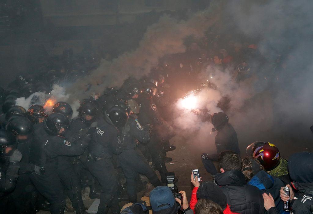 Niedzielne starcia w Kijowie