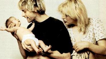 Kurt Cobain i Courtney Love z córką