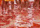 Krwawa jatka na festynie? Nie, to bitwa na truskawki podczas corocznego Święta Truskawki w Korycinie