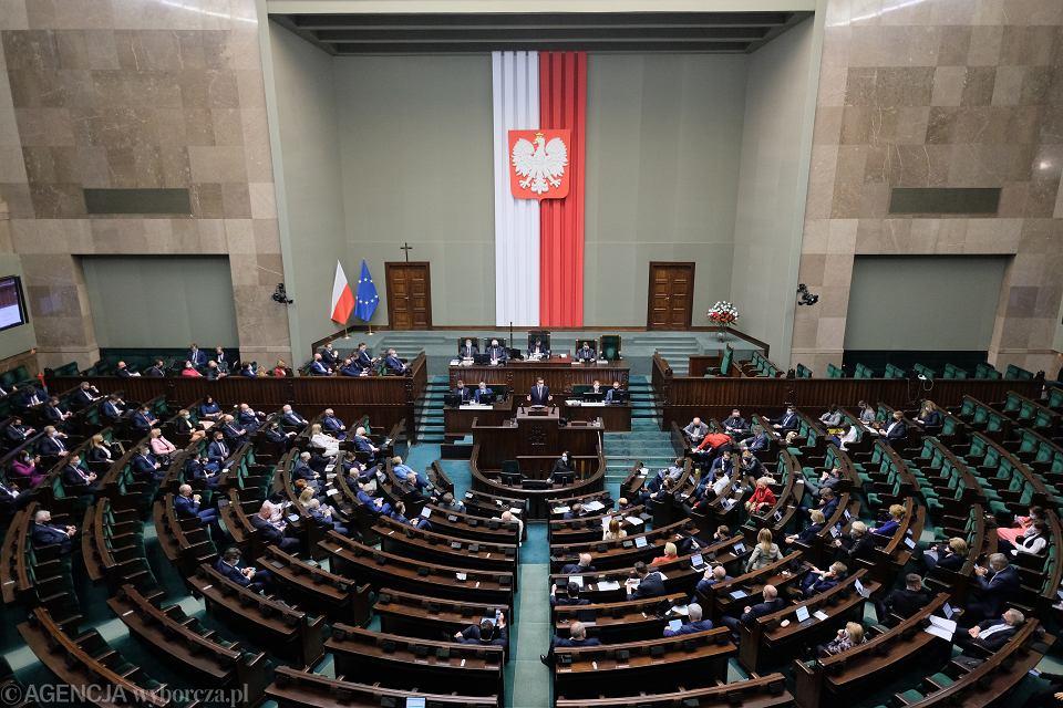 Sejm podczas głosowania nad Funduszem Odbudowy
