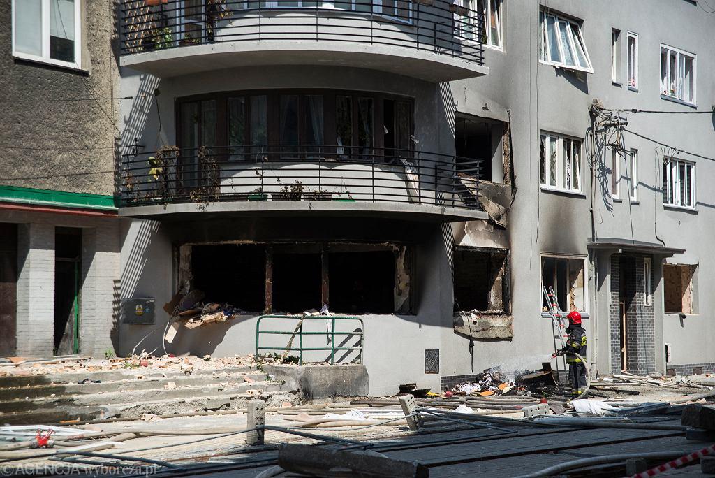 Wybuch gazu w kamienicy przy ul. Katowickiej 37. Bytom, 6 lipca 2019