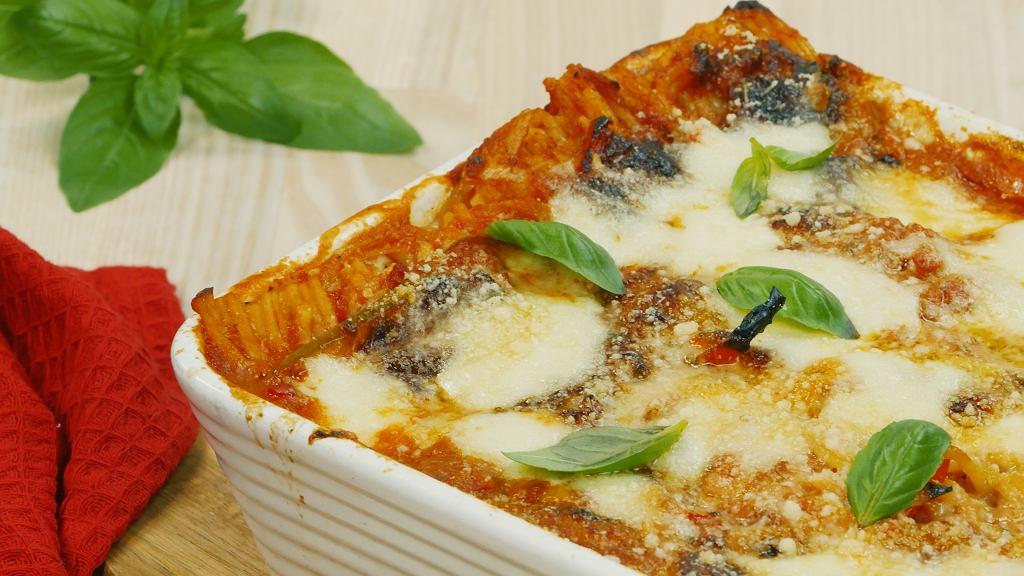 Pieczone spaghetti (bez gotowania)