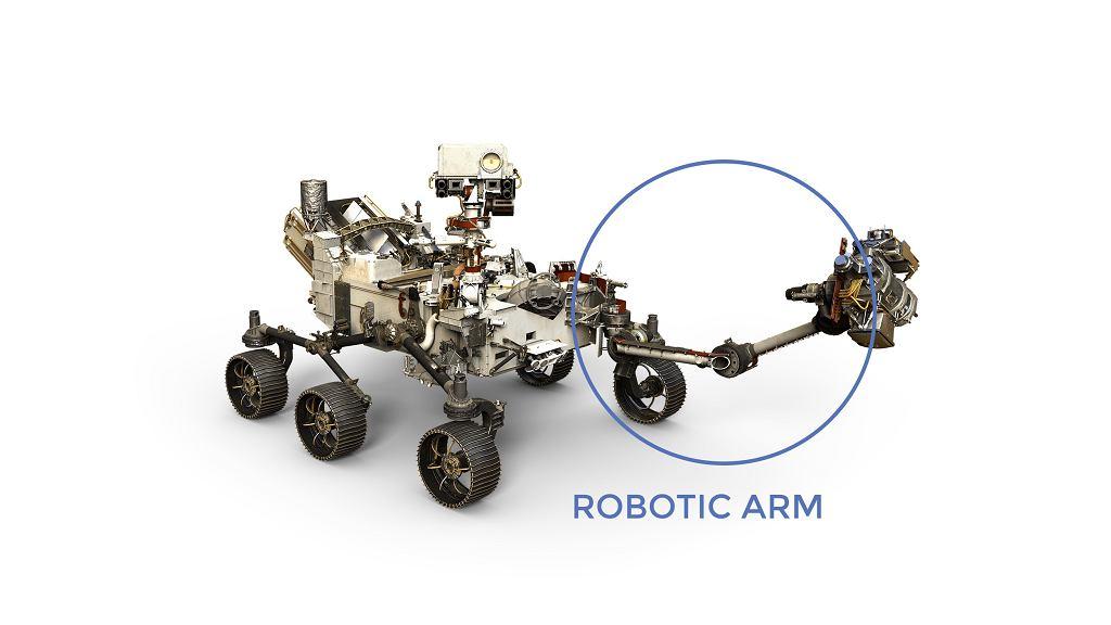 Robotyczne ramię łazika Perseverance