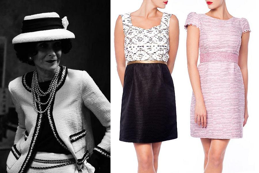 23aa3732832306 Inspiracja Chanel - sukienki z garsonkowej tkaniny