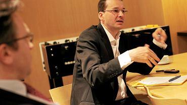 Mateusz Morawiecki jako prezes banku BZ WBK, Warszawa 22.12.2010