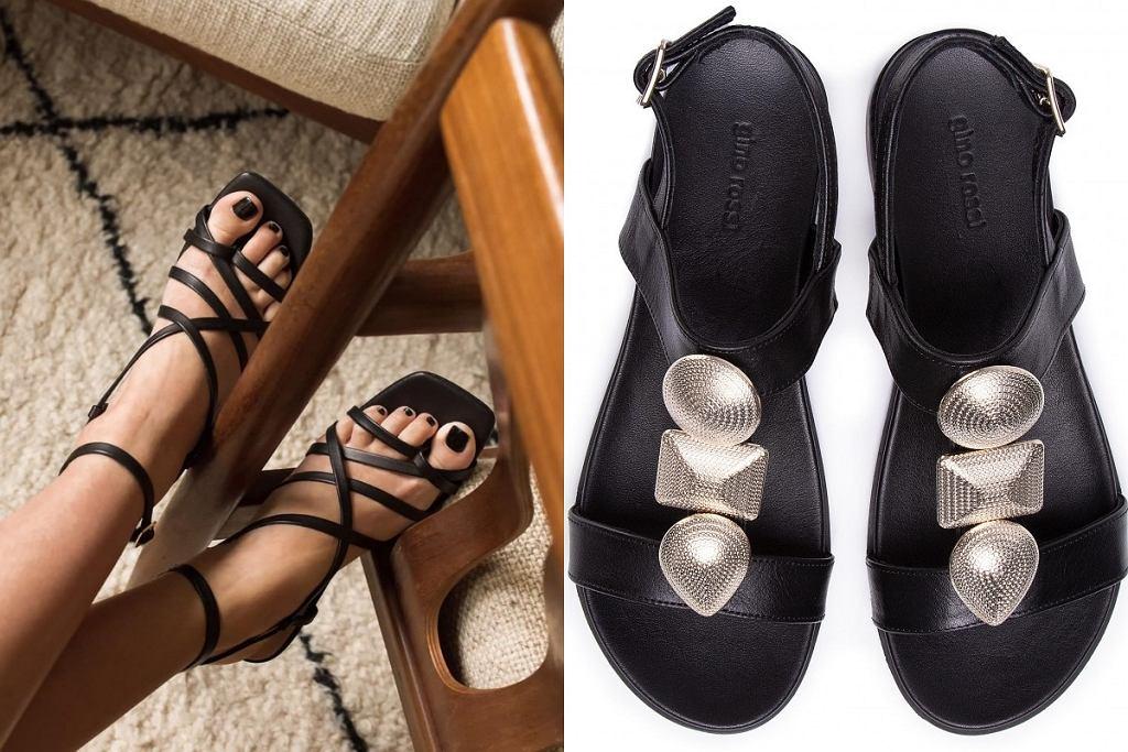 Płaskie eleganckie sandały