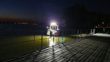 Akcja poszukiwania Piotra Woźniaka-Staraka na Jeziorze Kisajno koło Giżycka na Mazurach