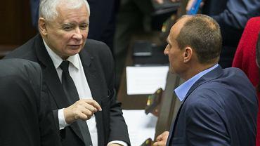 23.09.2016 Warszawa Sejm 26. posiedzenie VIII kadencji Sejmu N/z Jarosław Kaczyński i Paweł Kukiz