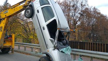 Wypadek na wiadukcie w Czechowicach-Dziedzicach
