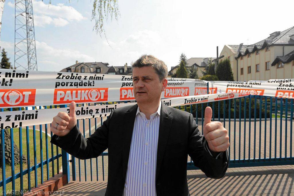 Janusz Palikot przed Radiem Maryja