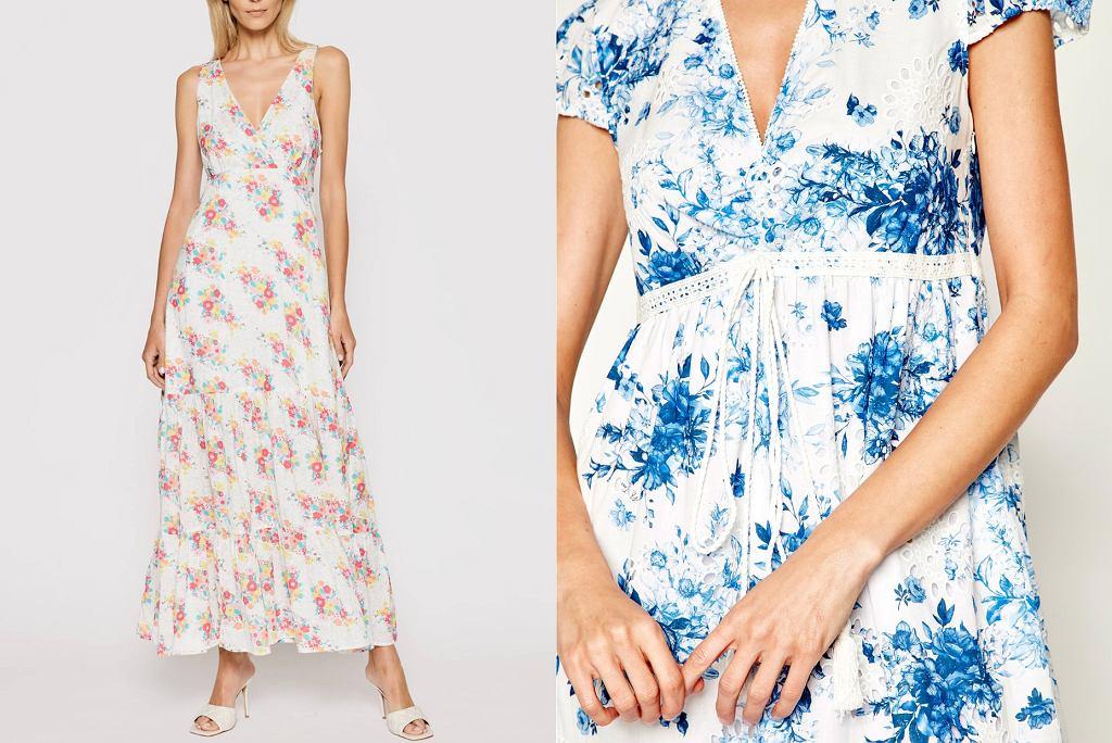 sukienki w kwiaty dla kobiet po 50