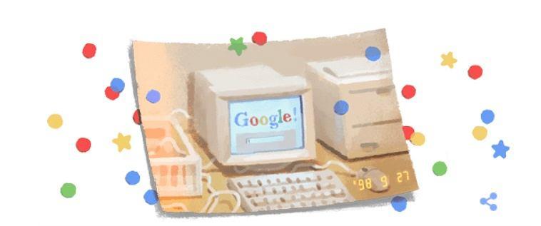Google Doodle z okazji 21. urodzin firmy