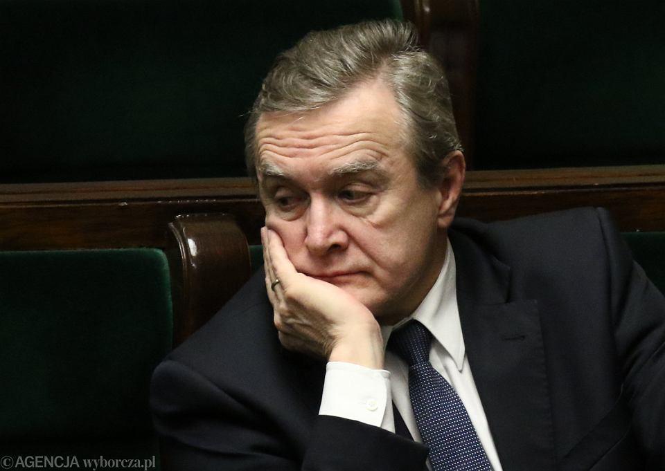 Piotr Gliński w ławach rządowych w Sejmie