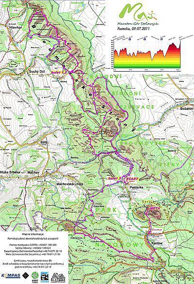 Trasa Maratonu Gór Stołowych 2012