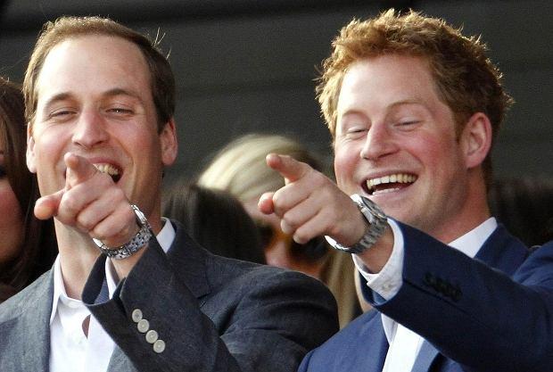 Mnóstwo entuzjazmu okazali też książęta William i Harry