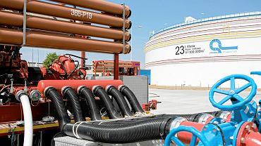 Zbiorniki na ropę naftową należące do firmy PERN w Adamowie w województwie Podlaskiem.