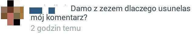Komentarz pod wpisem Sary Boruc