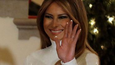 Melania Trump na balu w Białym Domu