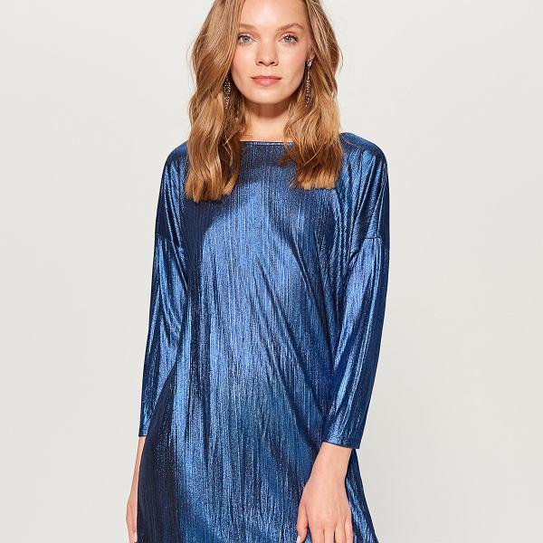 Połyskująca sukienka mini