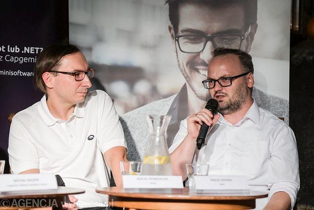 Spotkanie z cyklu ''IT mówi do IT''. Maciej Zasada, engineering manager w Unit4, i Maciej Norberciak, senior architekt w Nokii