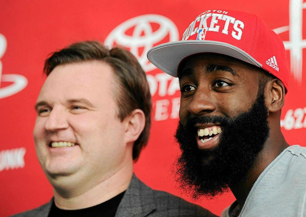 Daryl Morey, menedżer generalny Houston Rockets i James Harden