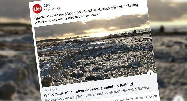 Lodowe kule zachwyciły osoby odwiedzające wyspę