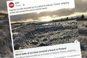 """Nietypowe lodowe kule na plaży w Finlandii. """"Nigdy czegoś takiego nie widziałam"""""""