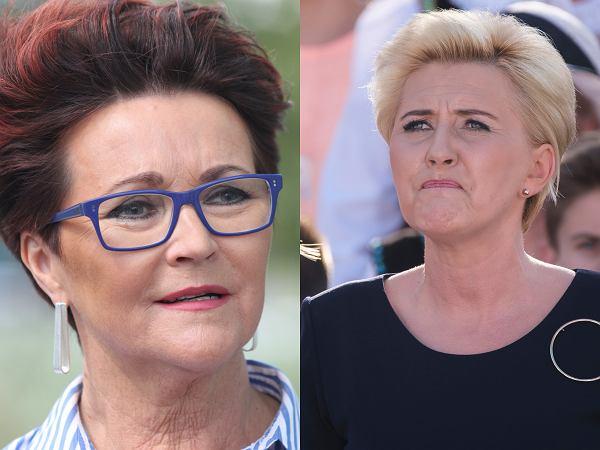 Jolanta Kwaśniewska komentuje wyrok TK w sprawie aborcji i odnosi się do Agaty i Kingi Dudy