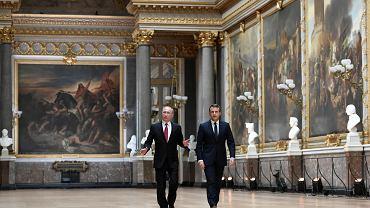 Maj 2017 r., Putin i Macron w Wersalu