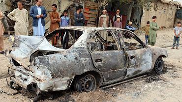 Atak rakietowy USA na co najmniej jeden samochód terrorystów z ISIS-K, czyli miejscowej filii Państwa Islamskiego (na zdjęciu) pozwolił zapobiec kolejnym zamachom na lotnisko w Kabulu. Afganistan, 30 sierpnia 2021 r.