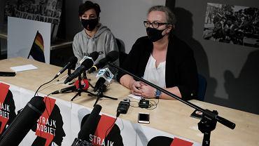 Konferencja prasowa Oglnopolskiego Strajku Kobiet w Warszawie