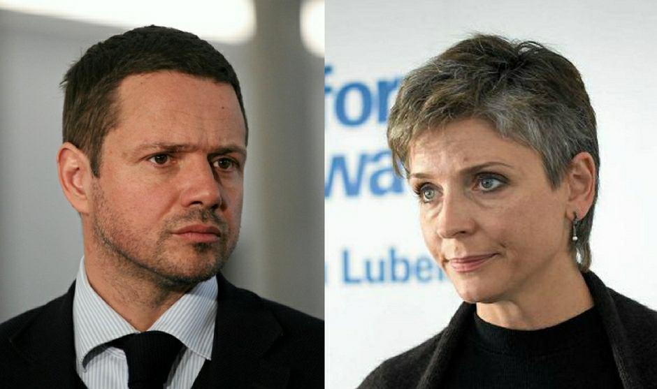Rafał Trzaskowski i Joanna Mucha