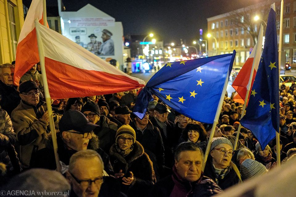 Manifestacja w obronie niezależności sądów, Rzeszów, 2019 r.
