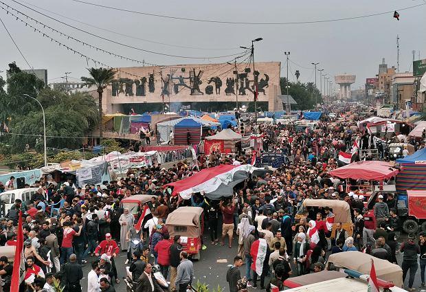 Protesty w Iraku.