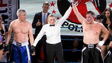 Listopad 2015. Jacek Jaśkowiak kontra Dariusz Michalczewski - walka wieczoru gali Biznes Boxing Polska w hotelu Novotel w Poznaniu