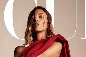 Anja Rubik nago na okładce Vogue. Zdjęcie z symbolem Strajku Kobiet przejdzie do historii