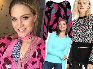kolorowe swetry