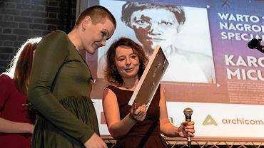 W 2018 r. Nagrodę Specjalną WARTO odebrała Karolina Micuła (z lewej)