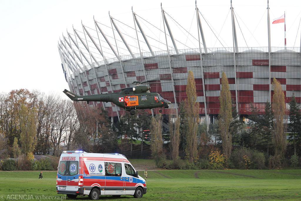 Szpital tymczasowy na Stadionie Narodowym