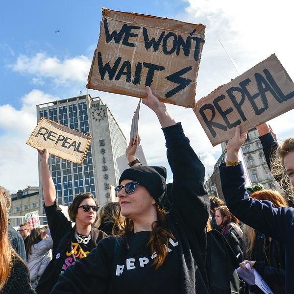 Strajk kobiet w Dublinie. Marzec 2017