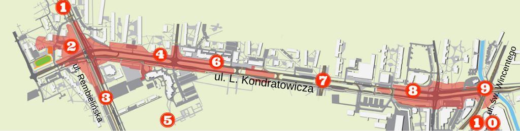 Ograniczenie ruchu w rejonie ulicy Kondratowicza