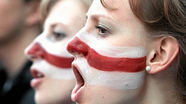 Uczestniczki koncertu 'Solidarni z Białorusią' (fot. Kuba Atys/AG)
