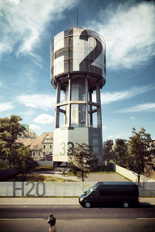 Wieża ciśnień w Gliwicach (fot. Medusa Group)