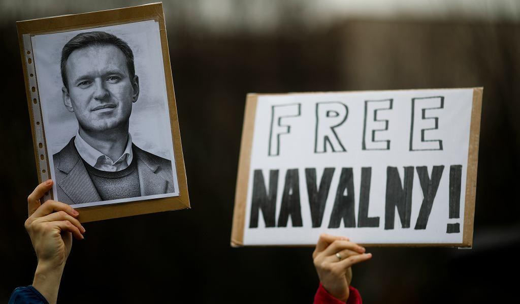 Protesty przeciwko uwięzieniu Aleksieja Nawalnego. Berlin, 23.01.2021.