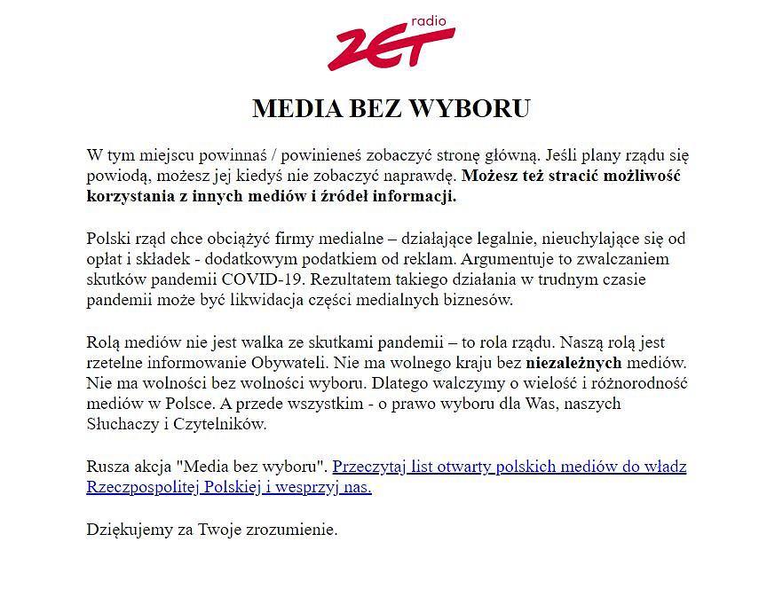 'Media bez wyboru'