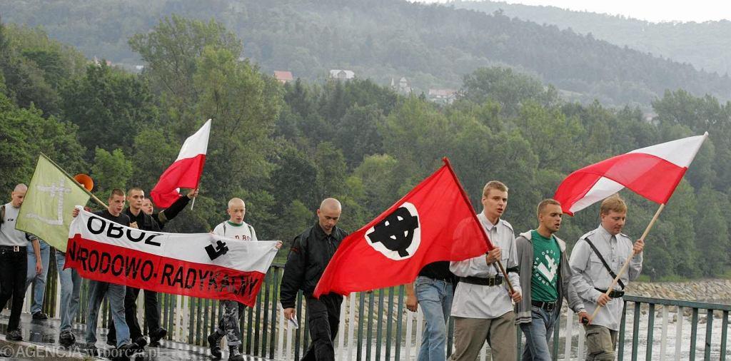 Manifestacja ONR. Tomasz Greniuch