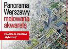 Mapa - Warszawa przyszłości malowana akwarelą