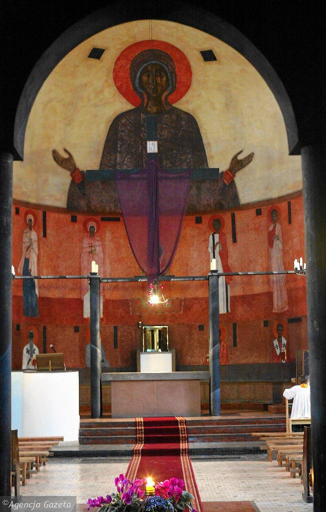 Malowidło Jerzego Nowosielskiego w Kościele Opatrzności Bożej w Wesołej / KUBA  ATYS