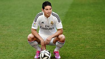 James Rodriguez podczas prezentacji w Realu