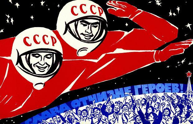 Złota era kosmicznej propagandy w ZSRR to lata 1950-70. Przez chwilę rzeczywiście wydawało się, że Związek Radziecki opanuje kosmos jako pierwszy